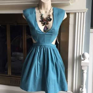 Tobi NWT party dress Blue mini cut outs